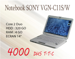 Notebook Sony GN-C11S/W